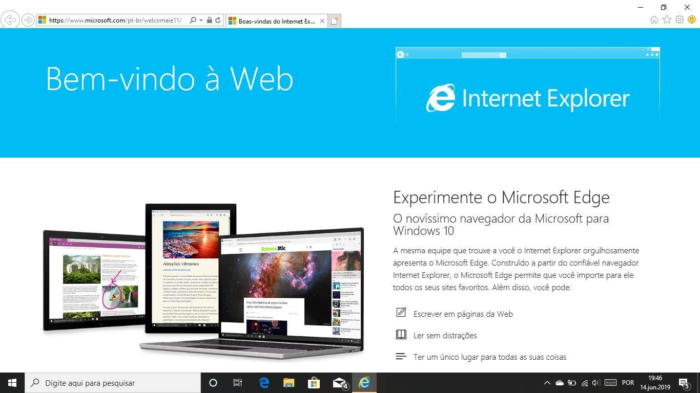 Microsoft não tem planos para remover o Internet Explorer do Windows