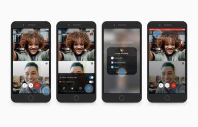Compartilhamento de tela no Skype para Android e iOS