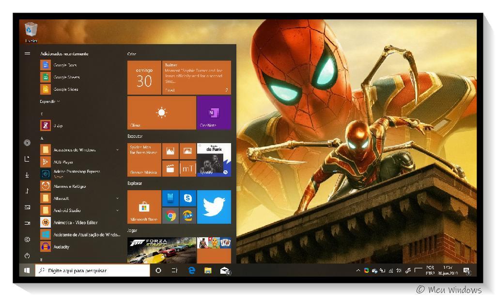 Tema Homem-Aranha: Longe de Casa para Windows 10.