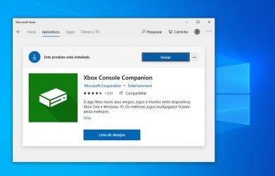 Xbox do Windows 10 agora é Xbox Console Companion
