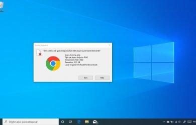 Ativar confirmação de exclusão de arquivos no Windows 10