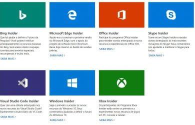 Programas Insider da Microsoft
