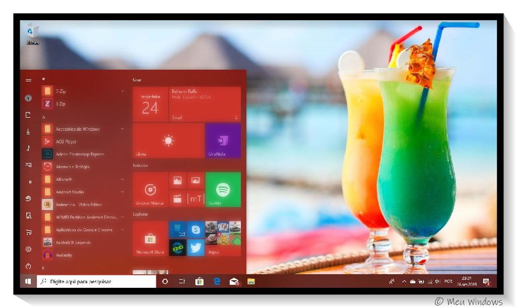 Tema Verão 4K no Windows 10