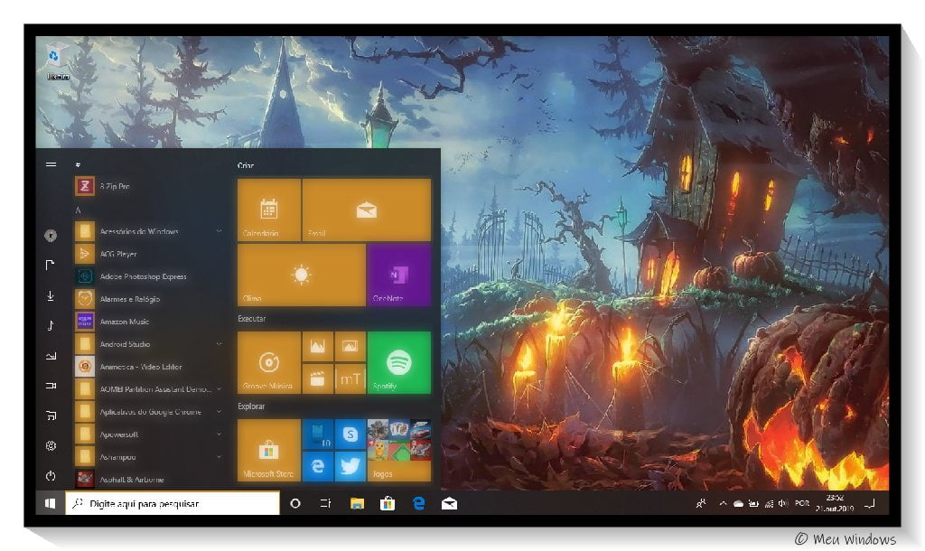 Halloween Theme for Windows 10.