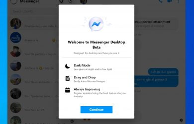 Facebook Messenger Desktop Beta