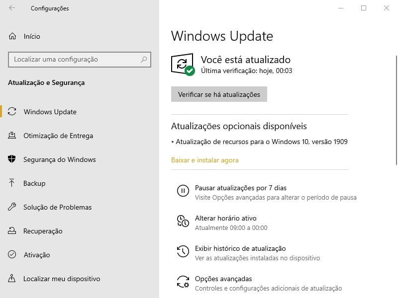 Agora você pode baixar a Atualização do Windows 10 de novembro de 2019 1