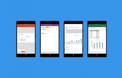 Aplicativos do Office para oWindows 10 Mobile
