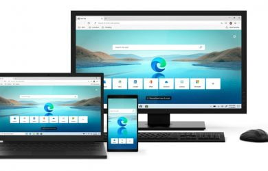 O novo Microsoft Edge no Windows, macOS, iOS, e Android.