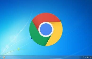 Chrome na área de trabalho do Windows 7.
