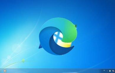 Edge na área de trabalho do Windows 7.