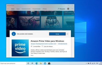 Amazon Prime Video para Windows 10 na Microsoft Store