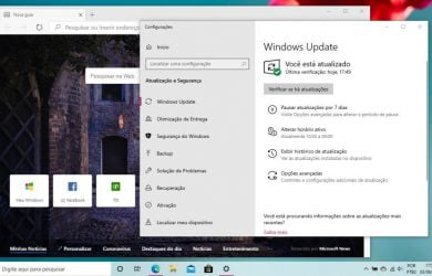 Novo Microsoft Edge disponível via Windows Update