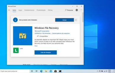 Windows File Recovery na Microsoft Store