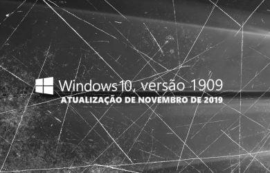 Fim do suporte para o Windows 10, versão 1909