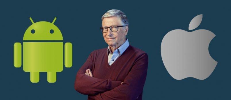 Bill Gates prefere Android em vez de iOS